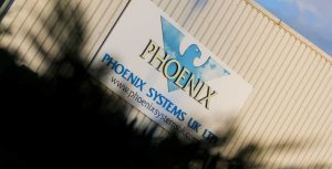 phoenix systems outside sign on building
